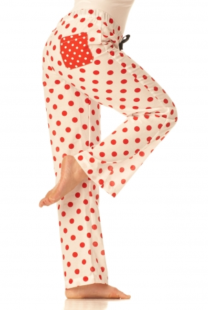 Pyžamové kalhoty - Červenobílý puntík